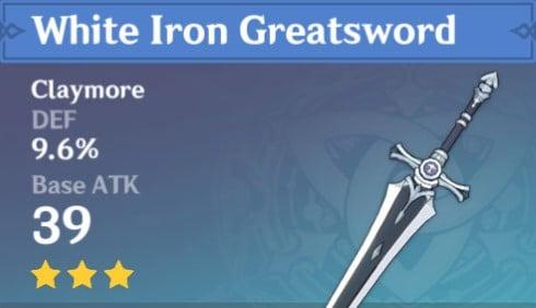 3Star White Iron Greatsword