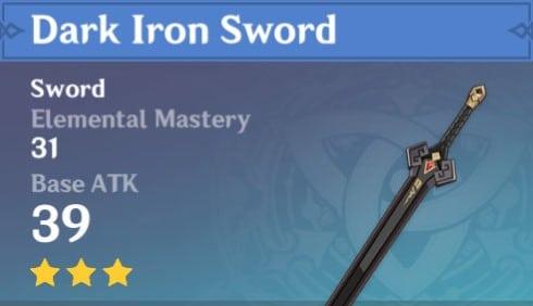 3Star Dark Iron Sword