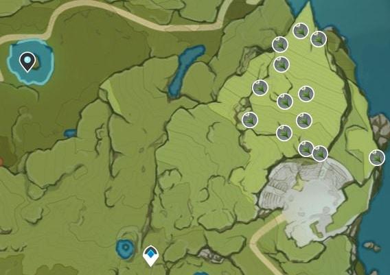 Calla Lily Farming Location Map Starsnatch Cliff