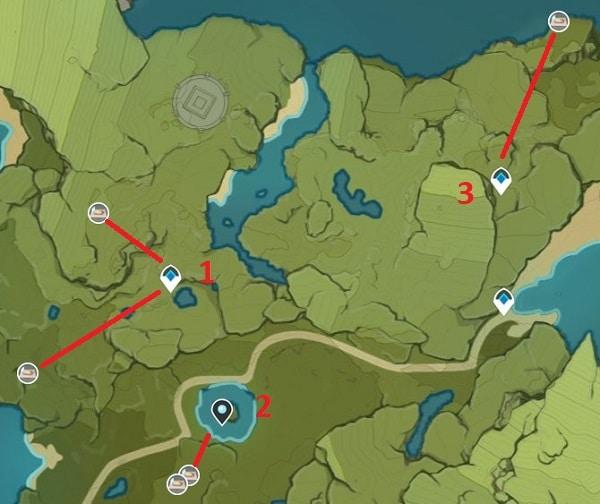 Dandelion Seed Farming Location Map 1 Stormbearer Mountains And Starfell Lake