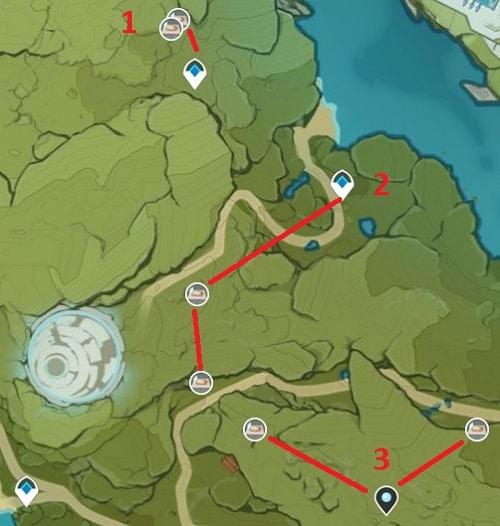 Dandelion Seed Farming Location Map 4 Wolvendom