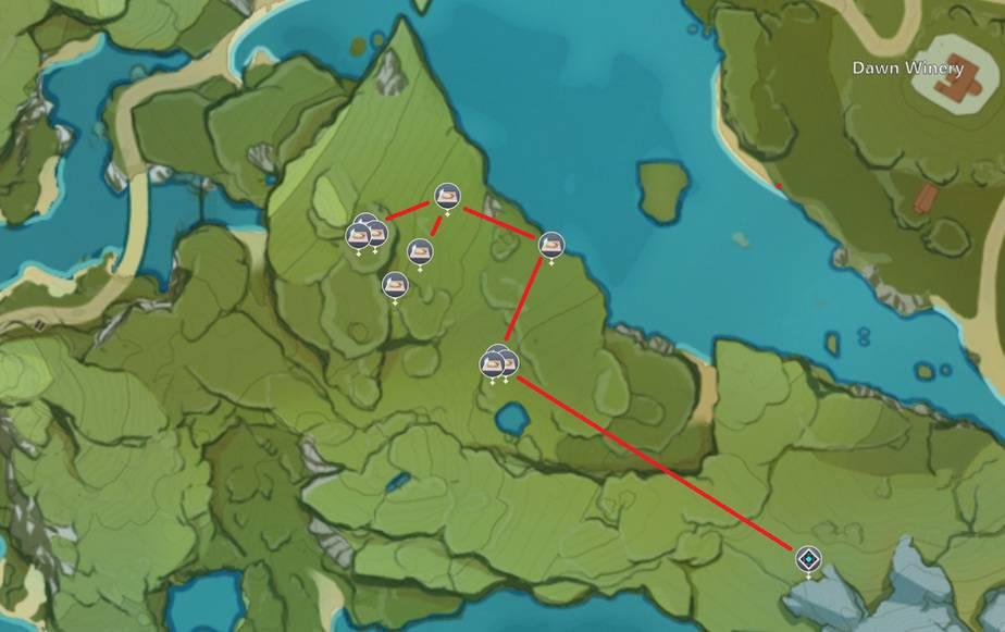 Dandelion Seed Farming Location Map 5 West Of Dawn Winery