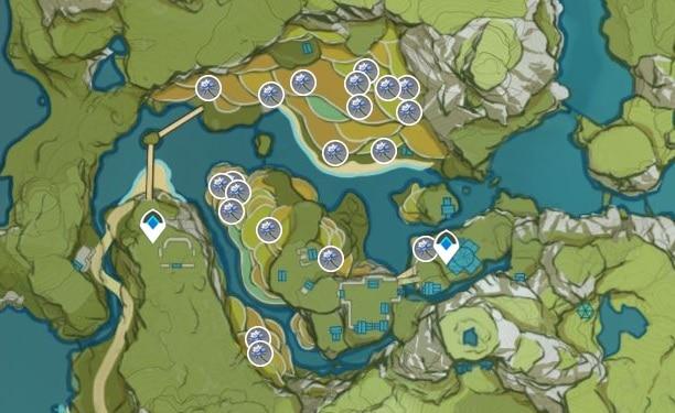 Glaze Lily Farming Location Map 1 Qingce Village