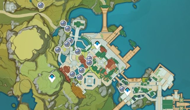 Glaze Lily Farming Location Map 2 Yujin Terrace