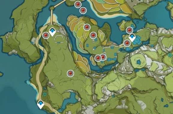 Jueyun Chili Farming Location Map Qingce Village