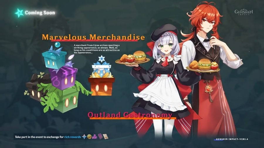 Noelle And Diluc As KFC Maid And Butler