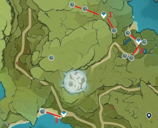 Small Lamp Grass Farming Location Map 3 Wolvendom Area