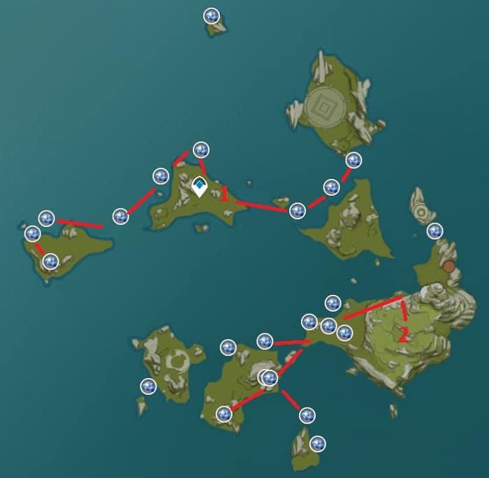 Starconch Farming Location Map 1 Guyun Stone Forest