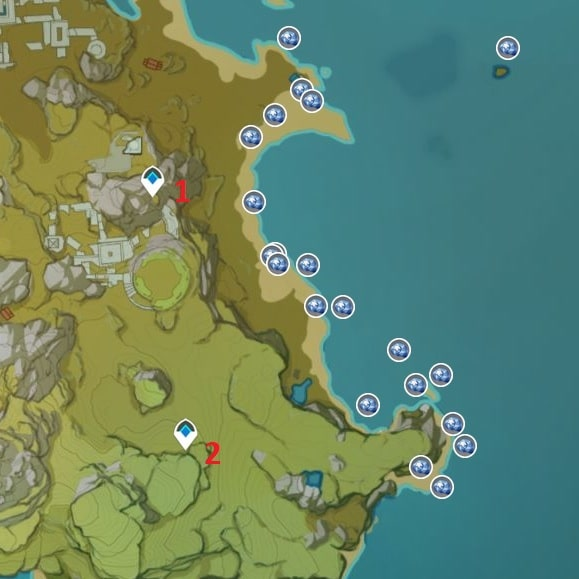 Starconch Farming Location Map 2 Guli Plains Shore