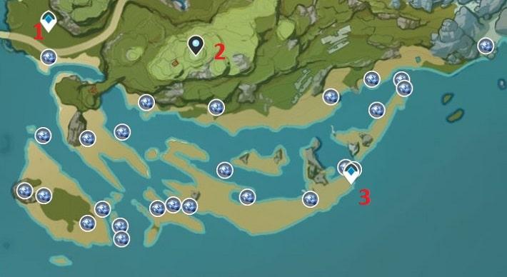 Starconch Farming Location Map 3 Yoaguang Shoal