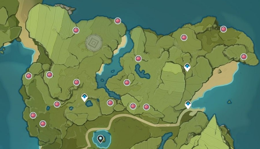 Valberry Farming Location Map In Stormbearer Mountains And Stormbearer Point