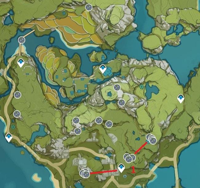 Violetgrass Farming Location Map 1 Qingce Village