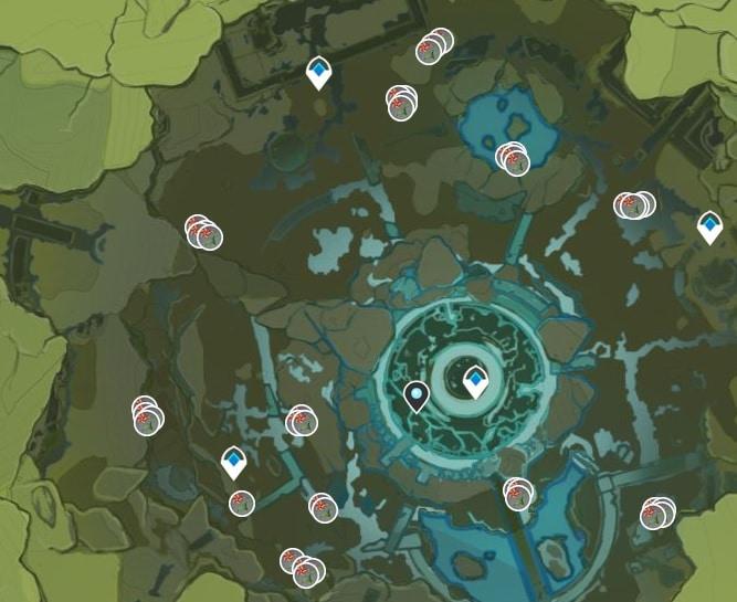 WIndwheel Aster Farming Location Map 3 Stromterror Lair