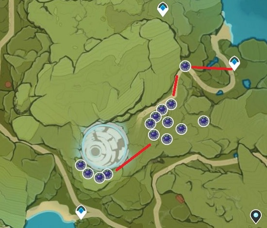 Wolfhook Farming Location Map In Wolvendom