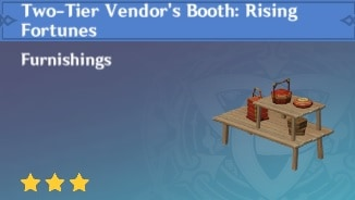 Blueprint Two Tier Vendor's Booth Rising Fortunes