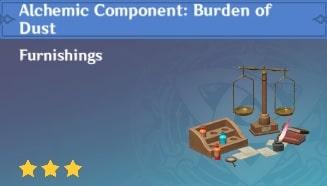 Alchemic Component Burden of Dust