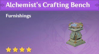 Furnishing Alchemists Crafting Bench
