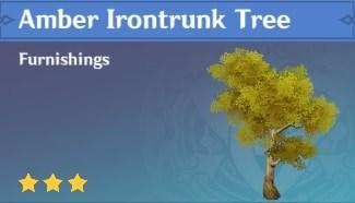 Furnishing Amber Irontrunk Tree
