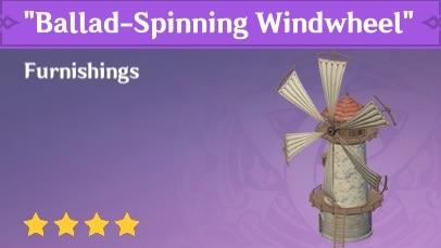 Furnishing Ballad Spinning Windwheel
