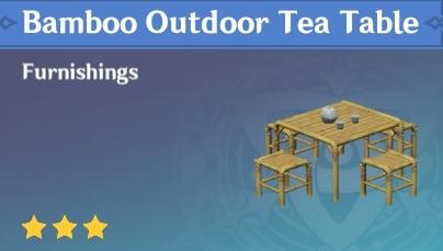 Furnishing Bamboo Outdoor Tea Table