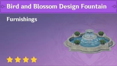 Furnishing Bird And Blossom Design Fountain