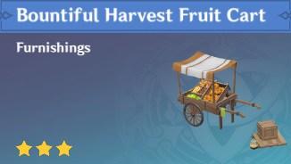 Furnishing Bountiful Harvest Fruit Cart