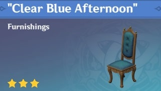 Furnishing Clear Blue Afternoon