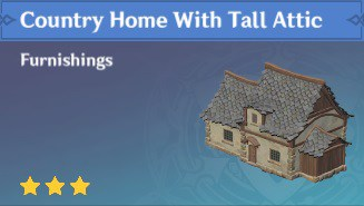 Furnishing Country Home With Tall Attic