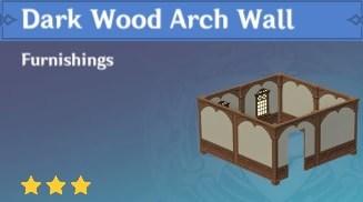 Dark Wood Arch Wall