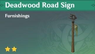 Deadwood Road Sign