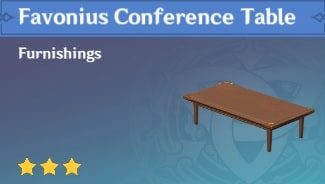 Furnishing Favonius Conference Table