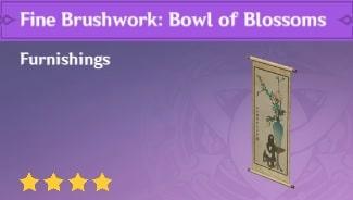 Fine Brushwork: Bowl of Blossoms