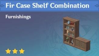 Furnishing Fir Case Shelf Combination