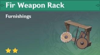 Furnishing Fir Weapon Rack