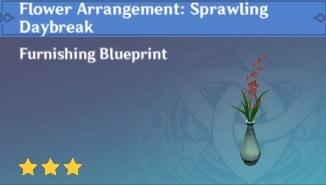Furnishing Flower Arrangement Sprawling Daybreak