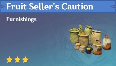 Fruit Seller's Caution