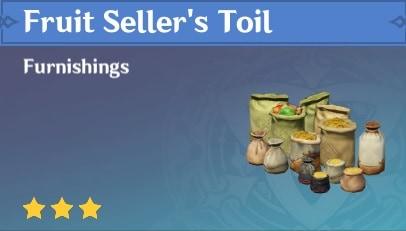 Fruit Seller's Toil