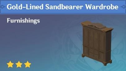 Gold-Lined Sandbearer Wardrobe