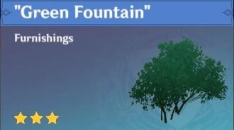 Furnishing Green Fountain