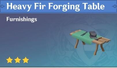 Furnishing Heavy Fir Forging Table