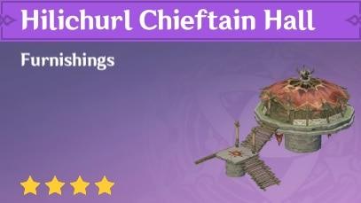 Furnishing Hilichurl Chieftain Hall