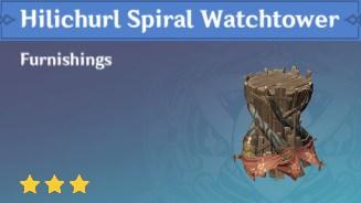 Furnishing Hilichurl Spiral Watchtower