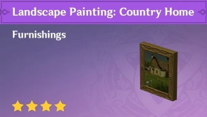 Landscape Painting: Country Home