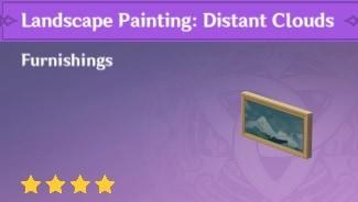 Landscape Painting: Distant Clouds