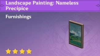 Landscape Painting: Nameless Precipice