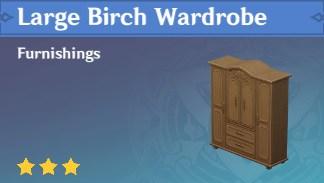 Large Birch Wardrobe