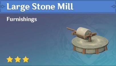 Furnishing Large Stone Mill