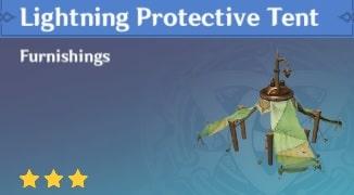 Furnishing Lightning Protective Tent