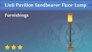 Furnishing Liuli Pavilion Sandbearer Floor Lamp