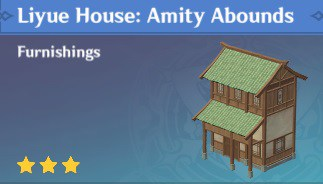 Furnishing Liyue House Amity Abounds